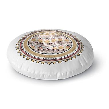 Kavka Tribal Round Floor Pillow; 23'' H x 23'' W x 9.5'' D