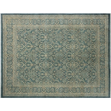 Darby Home Co Leann Hand-Knotted Traditional Blue/Gray Indoor Area Rug