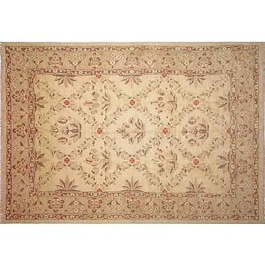Darby Home Co Leann Hand-Knotted Oriental Rectangle Beige Indoor Area Rug