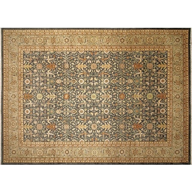 Darby Home Co Leann Hand-Knotted Green/Beige Indoor Area Rug