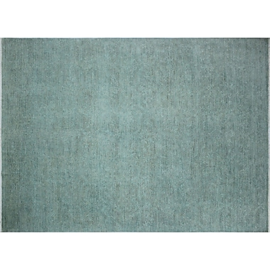 Noori Rug Overdyed Dallin Hand-Knotted Teal Blue Area Rug