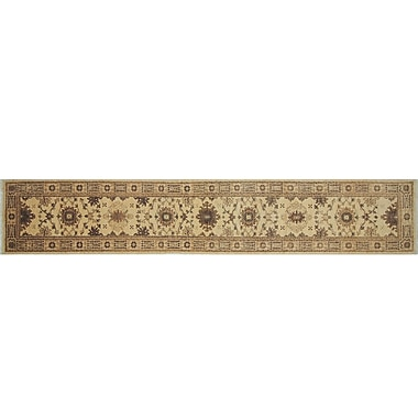 Darby Home Co Leann Hand-Knotted Runner Ivory Indoor Area Rug