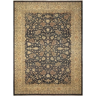 Darby Home Co Leann Hand-Knotted Rectangle Green Area Rug