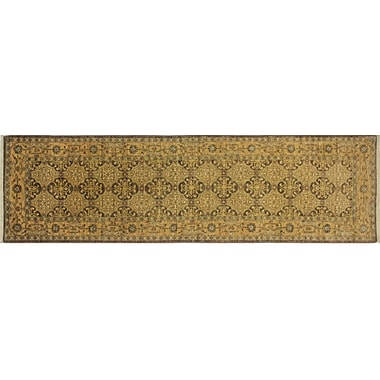 Darby Home Co Leann Hand-Knotted Runner Chocolate Wool Area Rug