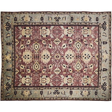 Darby Home Co Leann Hand-Knotted Aubergine Area Rug