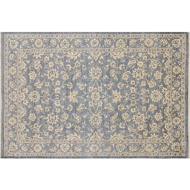 Darby Home Co Leann Hand-Knotted Oriental Gray Indoor Area Rug