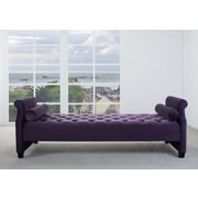 Rosdorf Park Deckard Upholstered Bedroom Bench; Purple