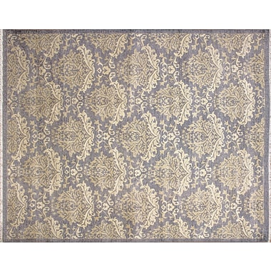 Rosdorf Park Hutchinson Hand-Knotted Gray Area Rug