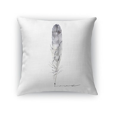 Kavka Feather Love Throw Pillow; 24'' H x 24'' W x 5'' D