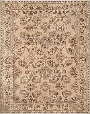 Darby Home Co Leann Low-Pile Hand-Knotted Beige Area Rug