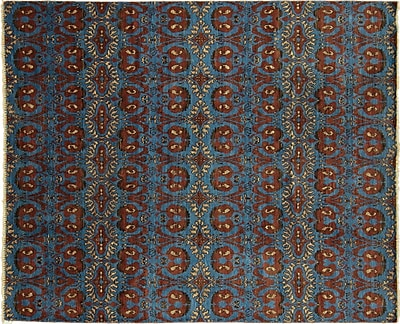 Bloomsbury Market Bellview Oriental Hand-Knotted Rectangle Blue Area Rug