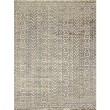 Bloomsbury Market Bellview Hand-Knotted Gray/Green Area Rug