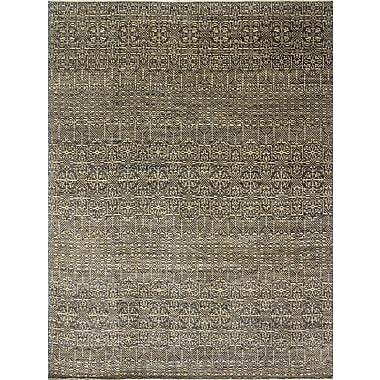 Bloomsbury Market Bellview Geometric Hand-Knotted Blue Area Rug