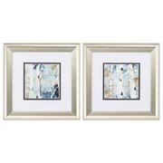 Propac Images 'Blue Watercolor' 2 Piece Framed Painting Print Set