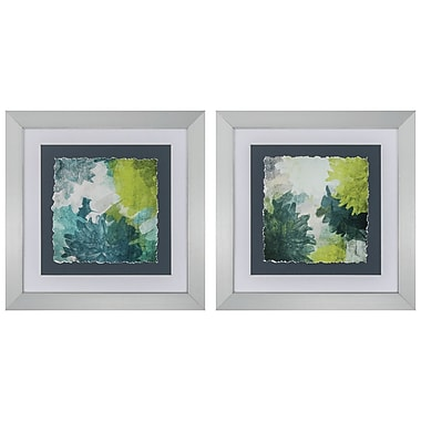 Propac Images 'Green Inspire' 2 Piece Framed Painting Print Set