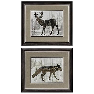Propac Images 'Deer Fox' 2 Piece Framed Graphic Art Set