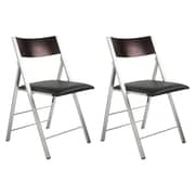 CORNER HOUSEWARES Comfort and Style Modern Metal Folding Chair (Set of 2)