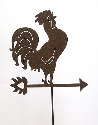 ZGardenParty Crowing Rooster Garden Stake
