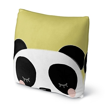 Kavka Panda Throw Pillow; 18'' H x 18'' W x 4'' D