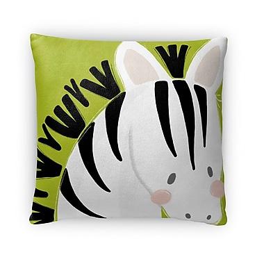 Kavka Zebra Throw Pillow; 16'' H x 16'' W x 4'' D