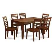 Wooden Importers Dudley 7 Piece Dining Set; Wood Seat