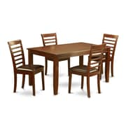 Wooden Importers Dudley 5 Piece Dining Set; Faux Leather