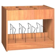 Ironwood Glacier 6 Compartment Book Display w/ Bins; Oiled Cherry