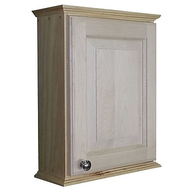 WG Wood Products Ashley Series 15.25'' x 19.5'' Surface Mount Medicine Cabinet