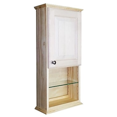 WG Wood Products Ashley Series 15.25'' x 31.5'' Surface Mount Medicine Cabinet
