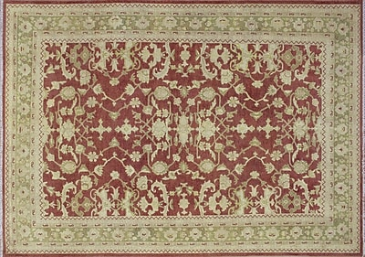 Darby Home Co Leann Hand-Knotted Rust Wool Indoor Area Rug