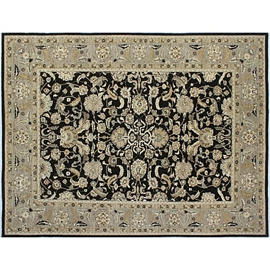Darby Home Co Leann Hand-Knotted Black Indoor Area Rug