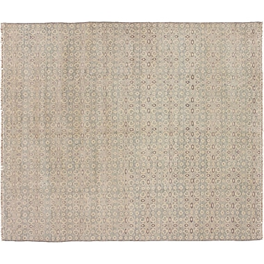 Bloomsbury Market Bellview Oriental Hand-Knotted Rectangle Wool Blue Area Rug