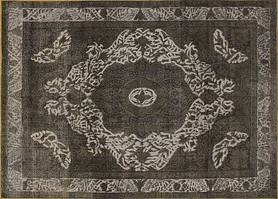 Noori Rug Distressed Zohreh Hand-Knotted Charcoal Area Rug