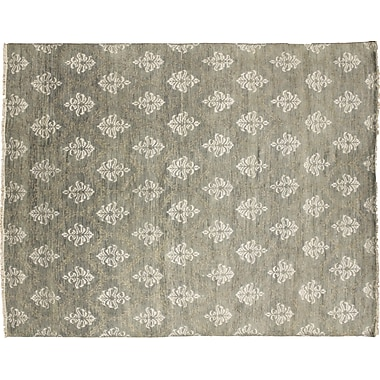 Bloomsbury Market Bellview Oriental Hand-Knotted Rectangle Wool Gray Area Rug
