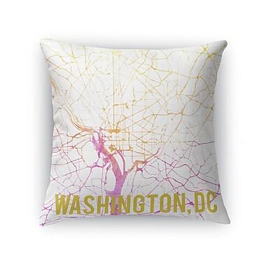 Kavka Wash DC Sunset Front Throw Pillow; 24'' H x 24'' W x 5'' D