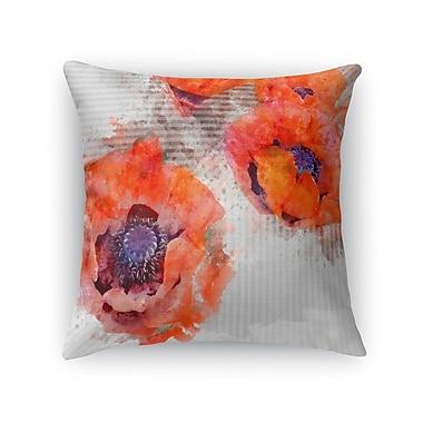 Ivy Bronx Prince Poppies Throw Pillow; 24'' H x 24'' W x 5'' D