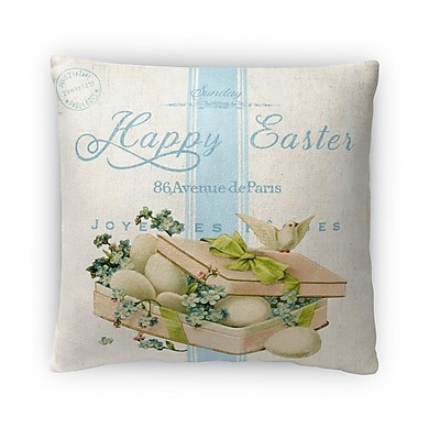 Kavka Easter Bird w/ Eggs Throw Pillow; 18'' H x 18'' W x 4'' D