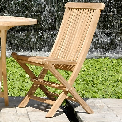 ChicTeak California Folding Patio Dining Chair (Set of 2)