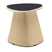 100 Essentials Circle Side Table; Black