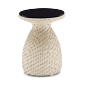 100 Essentials Circle Side Table; Java Antique