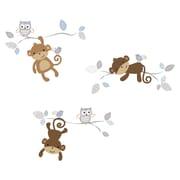 Bedtime Originals 32 Piece Mod Monkey Wall Decal Set