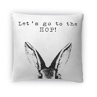 Kavka Lets Go to the Hop Throw Pillow; 16'' H x 16'' W x 4'' D