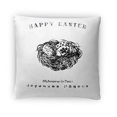 Kavka Nest w/ Easter Eggs Throw Pillow; 18'' H x 18'' W x 4'' D