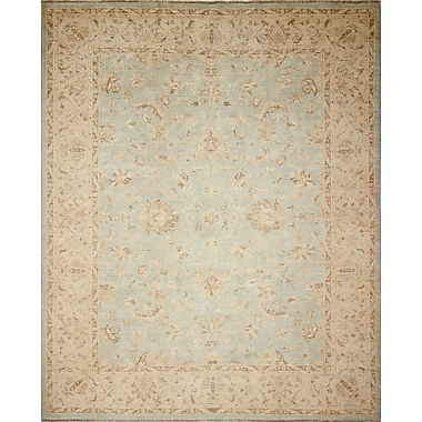 Darby Home Co Leann Faded Hand-Knotted Green/Blue Area Rug