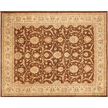 World Menagerie Arthen Hand-Knotted Brown Area Rug