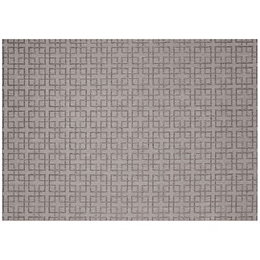 SimplyShade Lattice Silver/Charcoal Outdoor Area Rug; 7'10'' x 10'