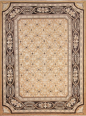 Darby Home Co Leann Faded Hand-Knotted Rectangle Rust Area Rug