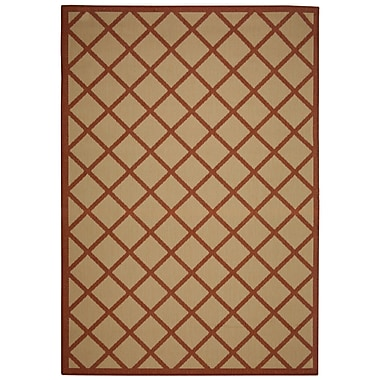 Pawleys Island Hammock Coast Red Geometric Indoor/Outdoor Area Rug; Rectangle 7' x 10'