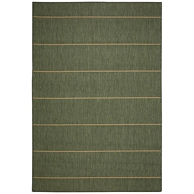 Pawleys Island Palmetto Green Stripe Indoor/Outdoor Area Rug; Rectangle 5' x 7'