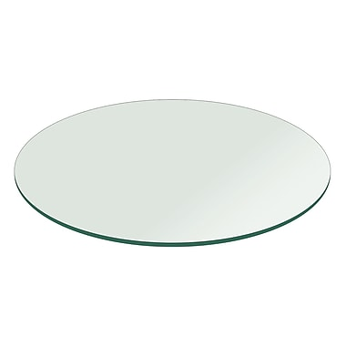 Fab Glass and Mirror Round Flat Polish Tempered Glass Table Top